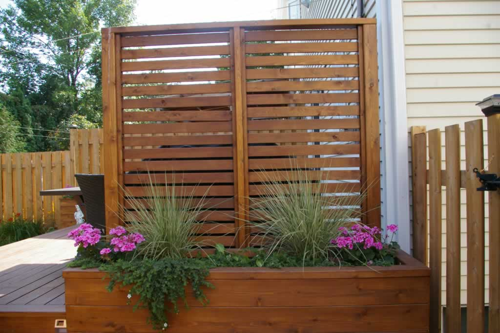 Accessories proscape patio decks montreal 514 421 9687 for Outdoor privacy screen planter